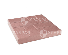 Тротуарная красная плитка 8 кирпичей