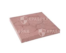 Тротуарная плитка Тучка красного цвета